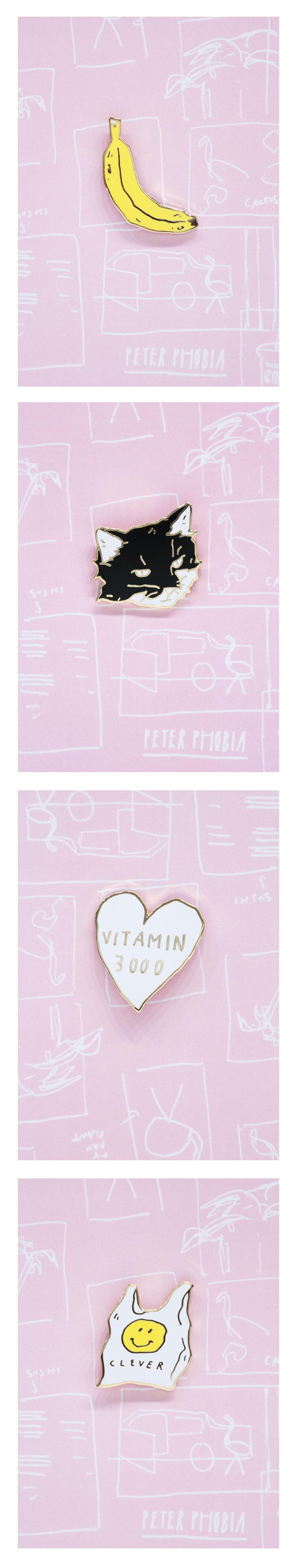PETER PHOBIA PIN SET
